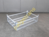 Industrial half-basket, hot dip galvanized
